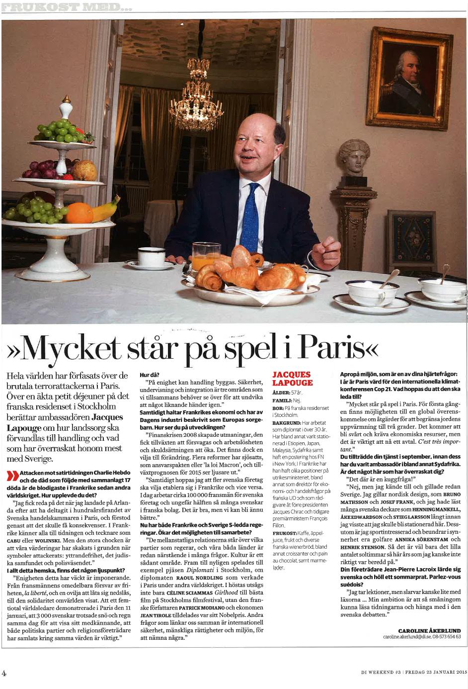 Lapouge artikel Di_Mycket står på spel i Paris